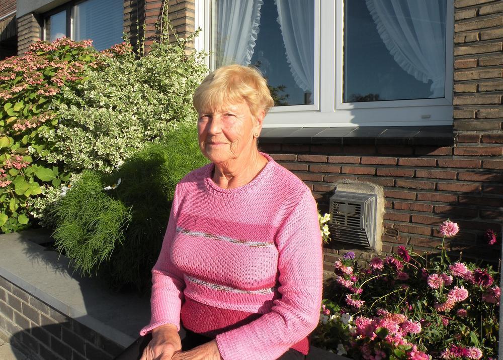 Nicole Lepers voor haar huis: