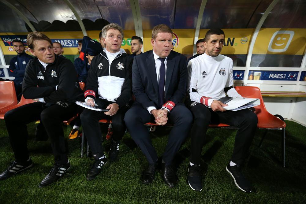 Gino Caen, nu bij AA Gent, vorig jaar naast Hein Vanhaezebrouck bij Anderlecht.