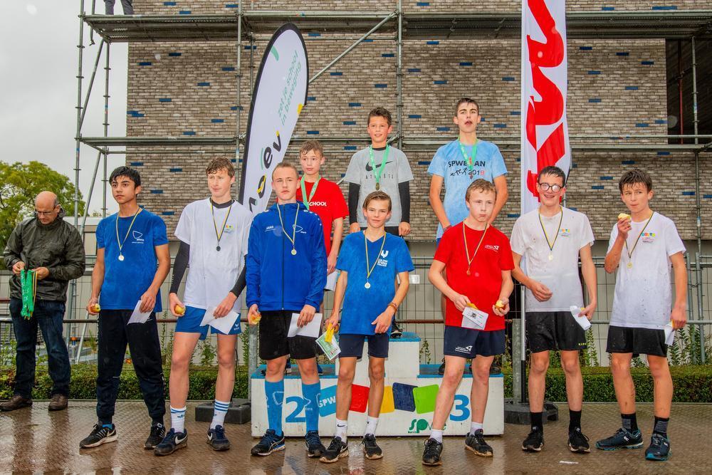 Bij de cadetten A jongens won Ibe Baelde voor Niels Mispelaere en Edward Neutens.