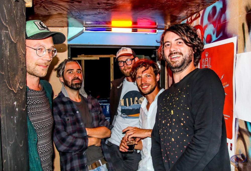 KKKK bestaat uit Alexander Casier, Stefaan Poot, Niels Wysieur, Alexander Traitos en Joram Daals. (foto NVM)