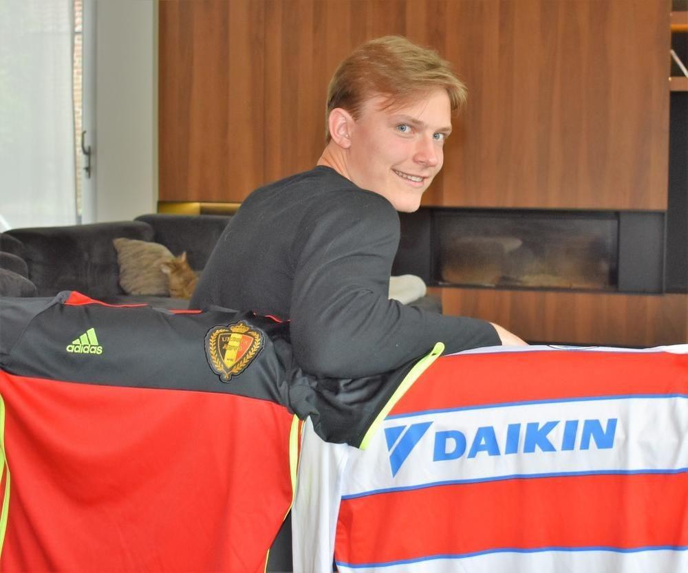 Ibe Hautekiet is sterk bezig bij zowel de Rode Duivels als Club Brugge. (foto TVW)