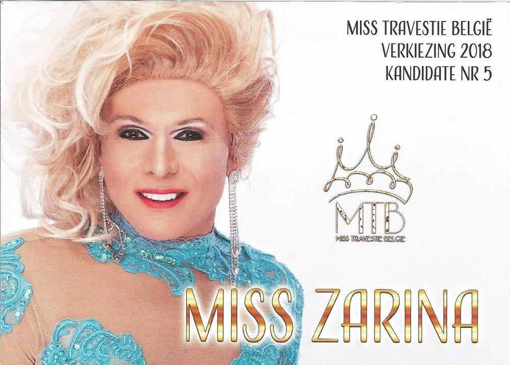 Voor de tweede en laatste keer doet Miss Zarina een gooi naar het kroontje van Miss België Travestie.