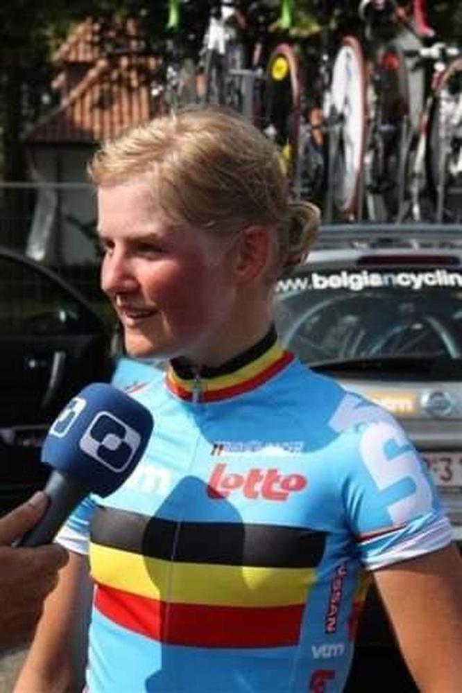 Elise Depoorter, tien jaar geleden op het EK voor beloften in Hooglede. (gf)