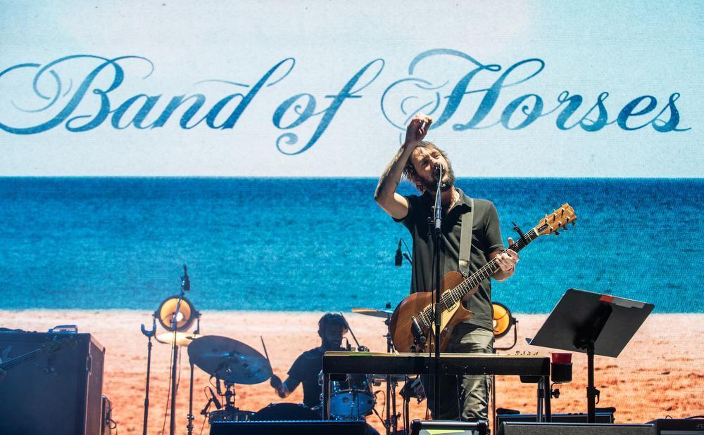 Band of Horses aan het werk op het Innings Festival in Arizona eerder dit jaar. Zondag staan ze op Cactusfestival.