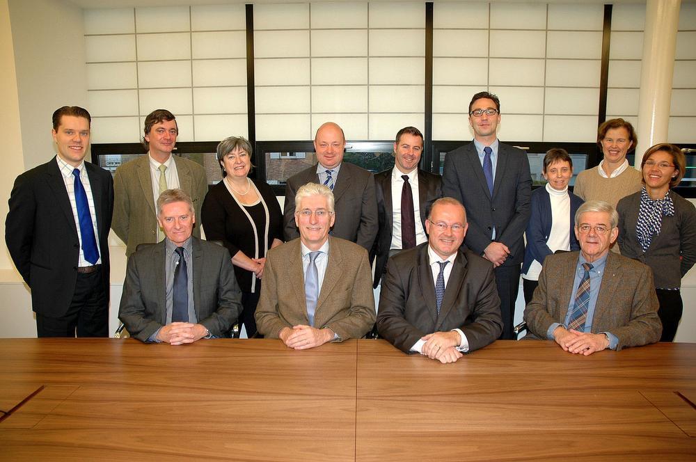 De top van de nv Weghsteen in betere tijden, in november 2012.