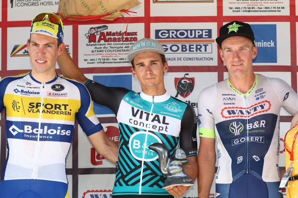 Benjamin Declercq (links) werd enkele weken geleden tweede in de GP Cerami. Zet hij straks, na drie jaar bij Sport Vlaanderen-Baloise, een stap hogerop?