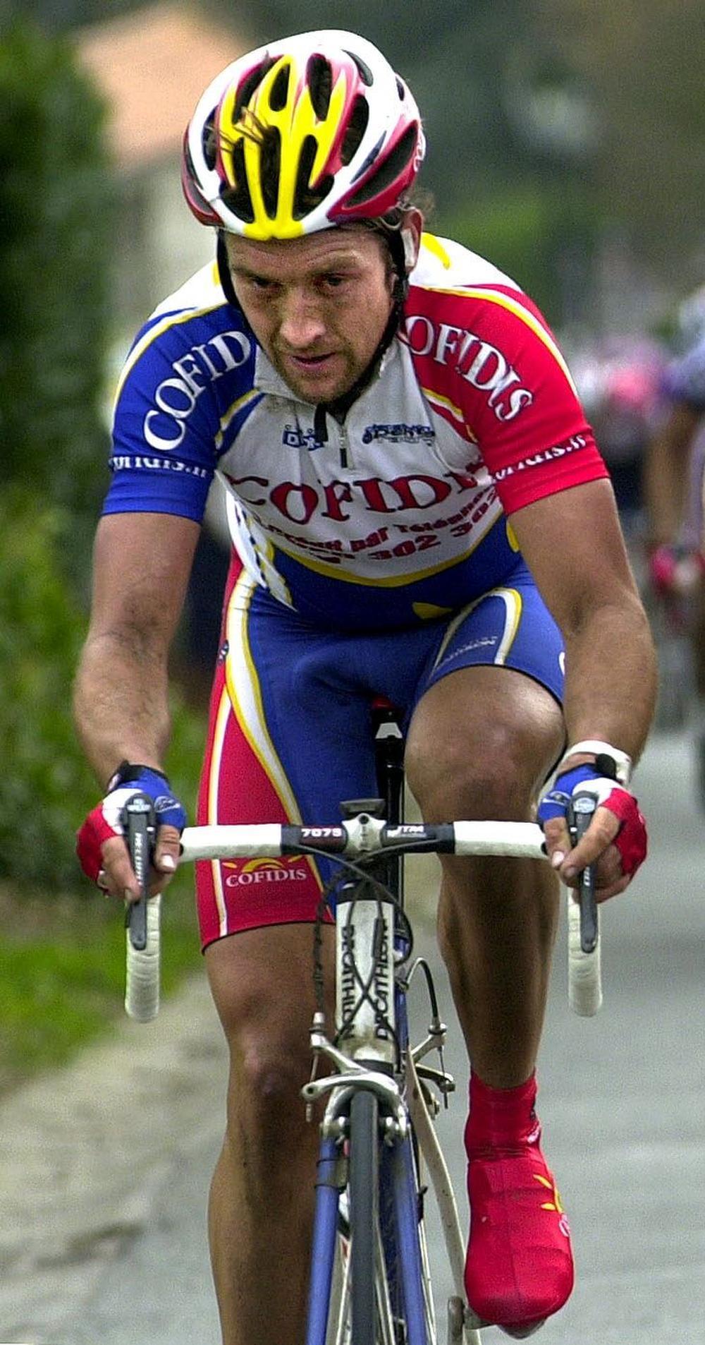 Nico Mattan (rechts eindigde in 2003 als vijfde in de Tro-Bro Léon.