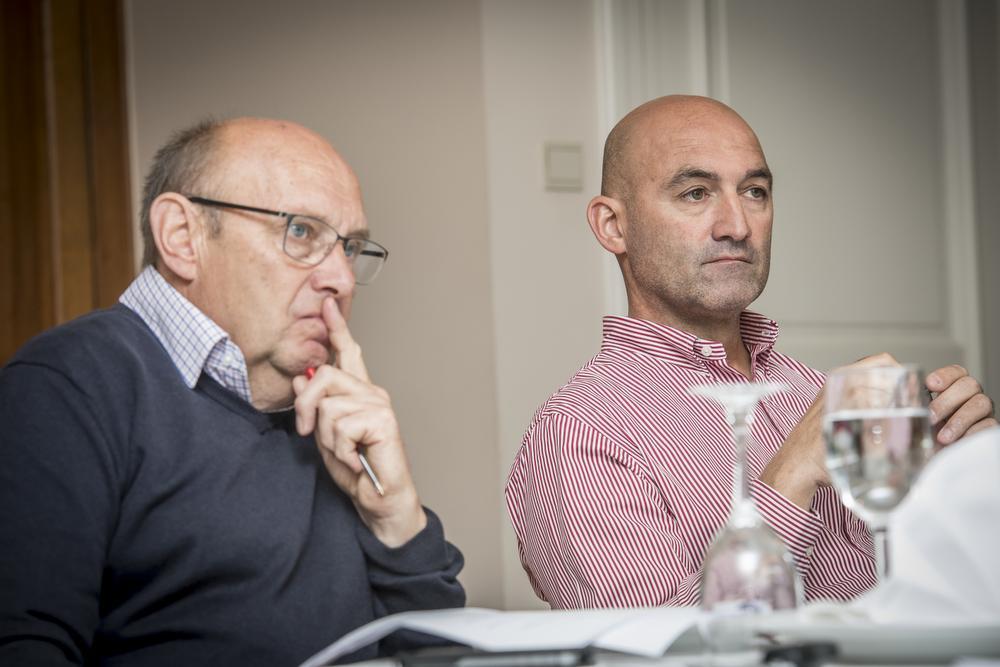Michel Pollentier en Hans De Clercq.