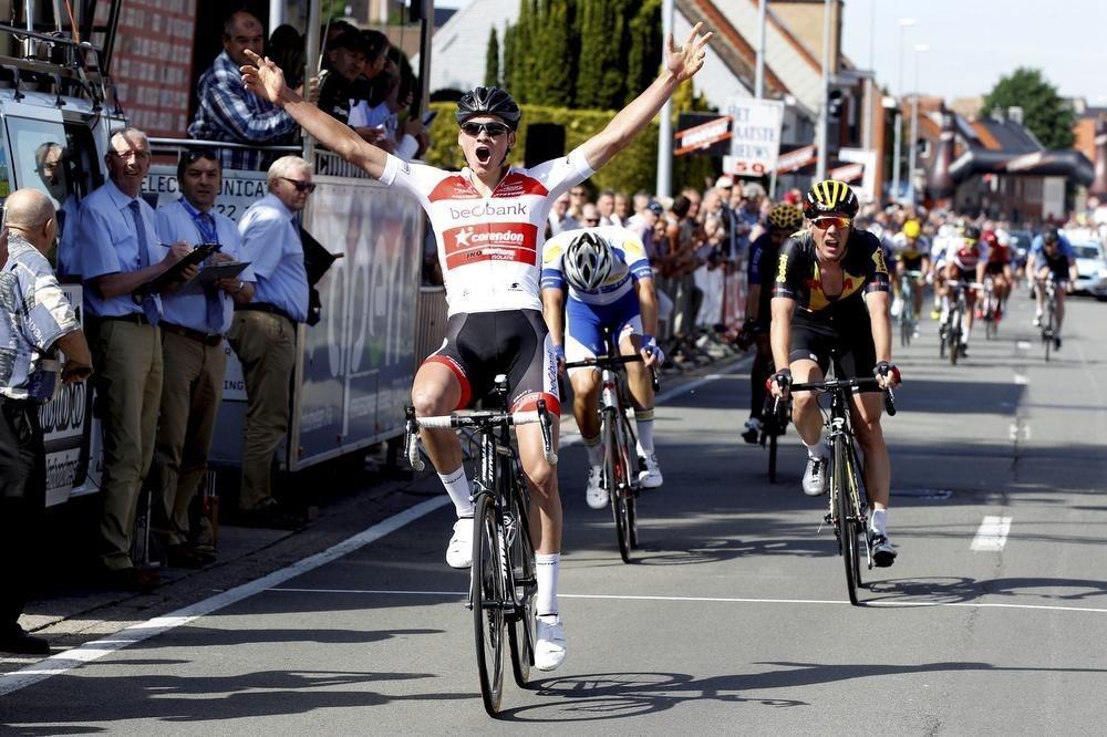 Drie jaar geleden won Mathieu van der Poel al eens in Ruddervoorde. (foto Bart)