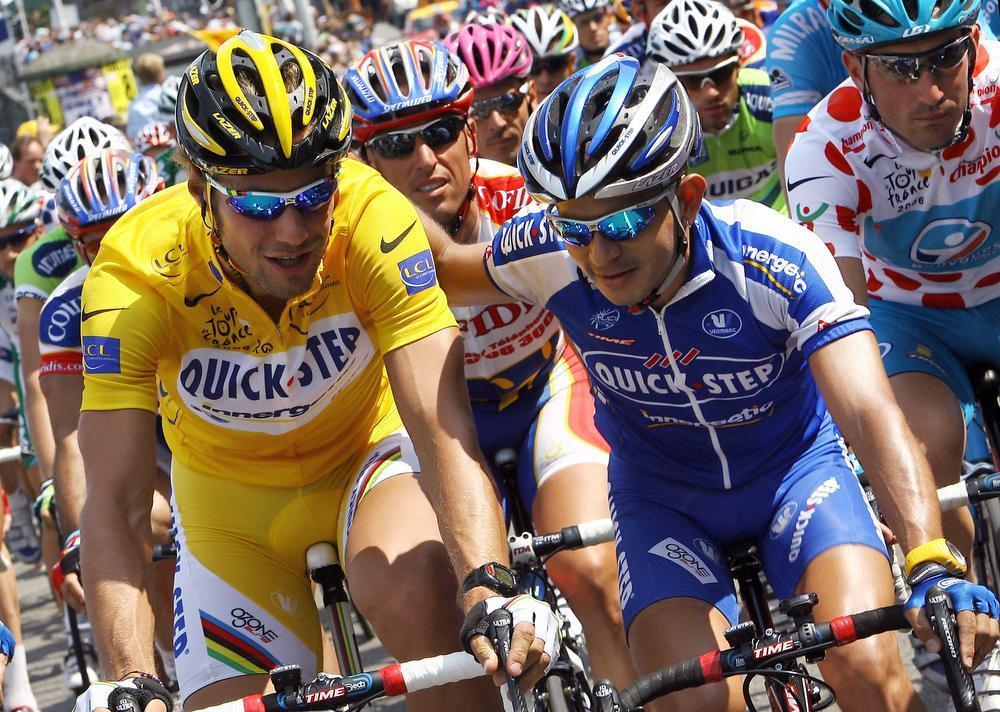 In 2006 stuntte Lefevere met de late aanwerving van de Venezolaan José Rujano (hier met Tom Boonen), zonder succes echter...