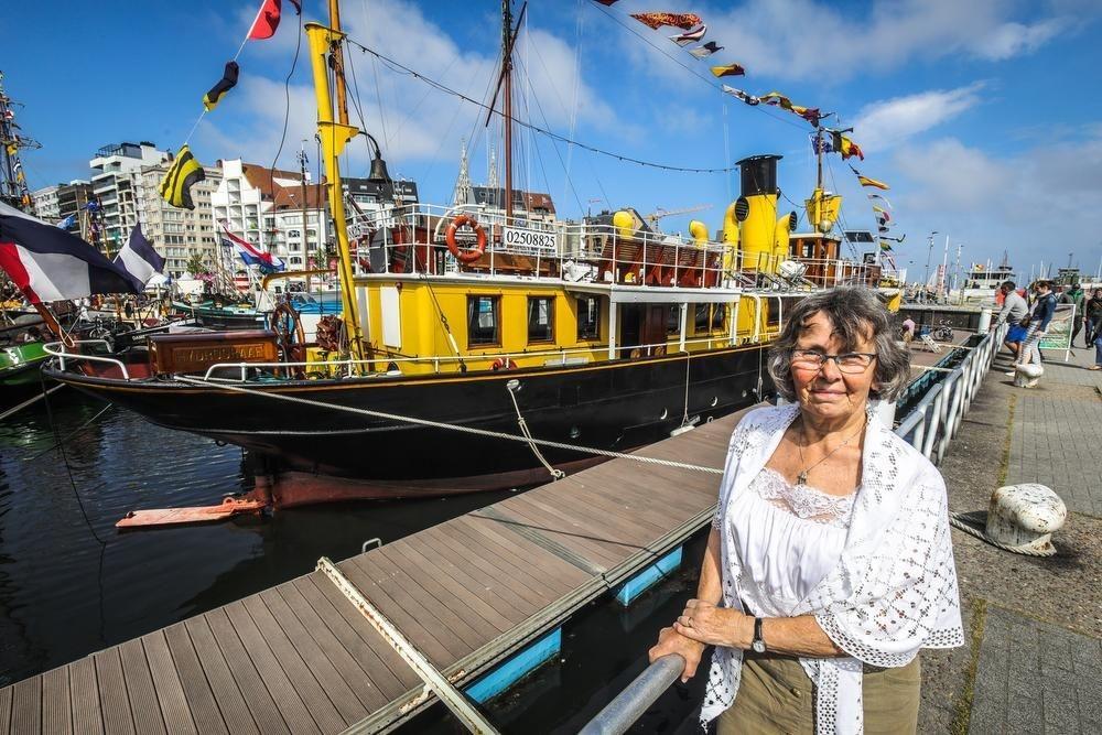 Doris Klausing aan de Hydrograaf.