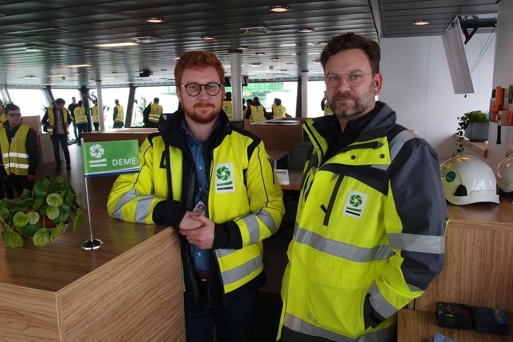 Mathieu Holvoet en zijn Deense collega. (foto RJ)
