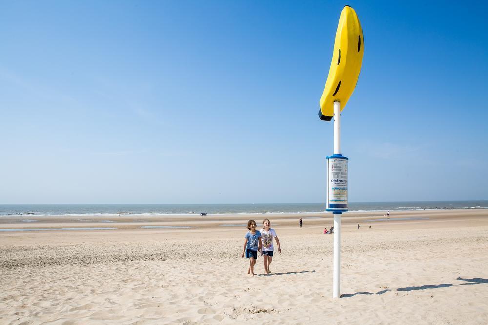In Middelkerke (foto) zijn de verdwaalpalen al geplaatst, Oostende volgt binnenkort.