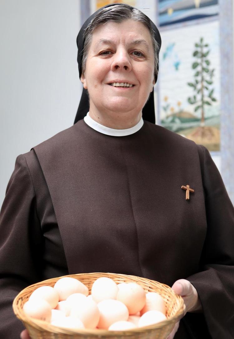 Zuster Martine, de abdis van de Zusters Clarissen in Oostende.