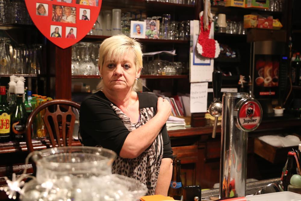 Caféklap in De Bruine Kroeg in Torhout: