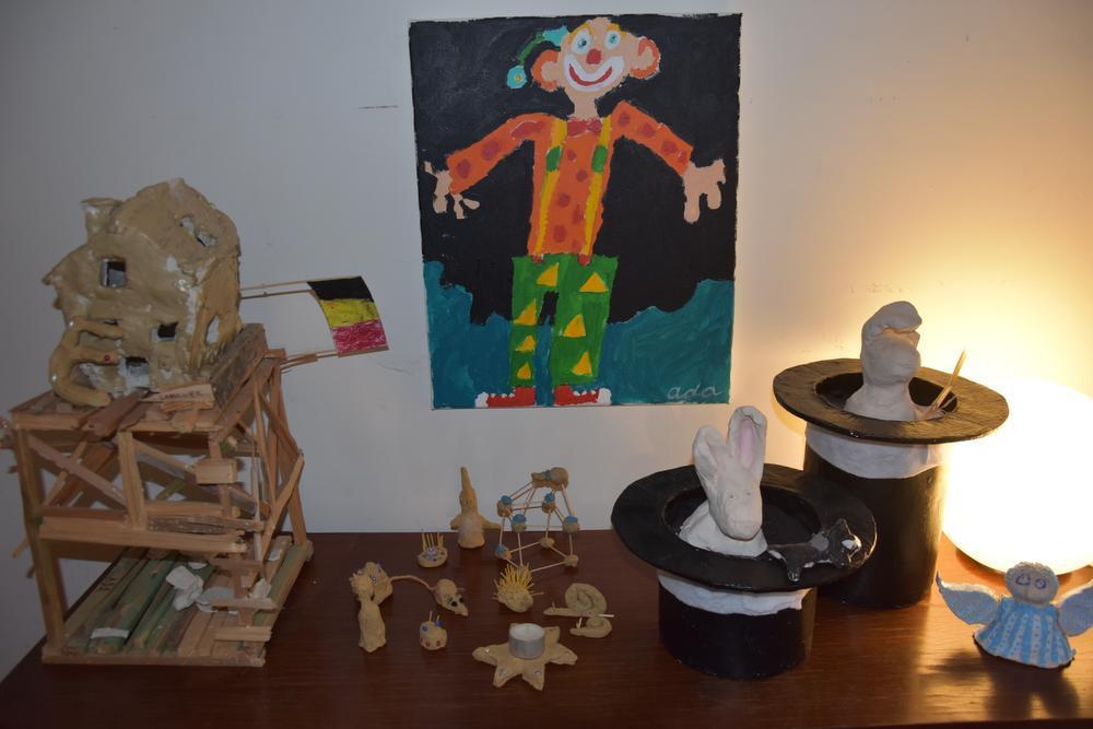 Creativiteit wordt sterk gestimuleerd : het creahoekje van de kinderen. (Foto LVA)
