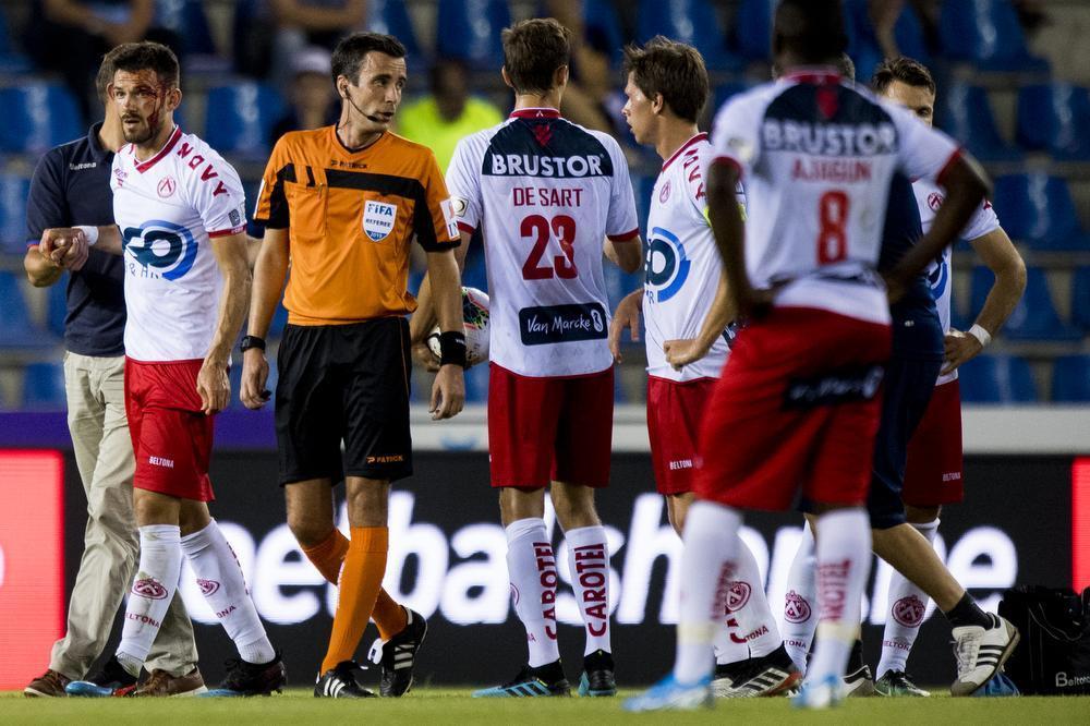 KV Kortrijk moest zijn meerdere erkennen in landskampioen RC Genk.