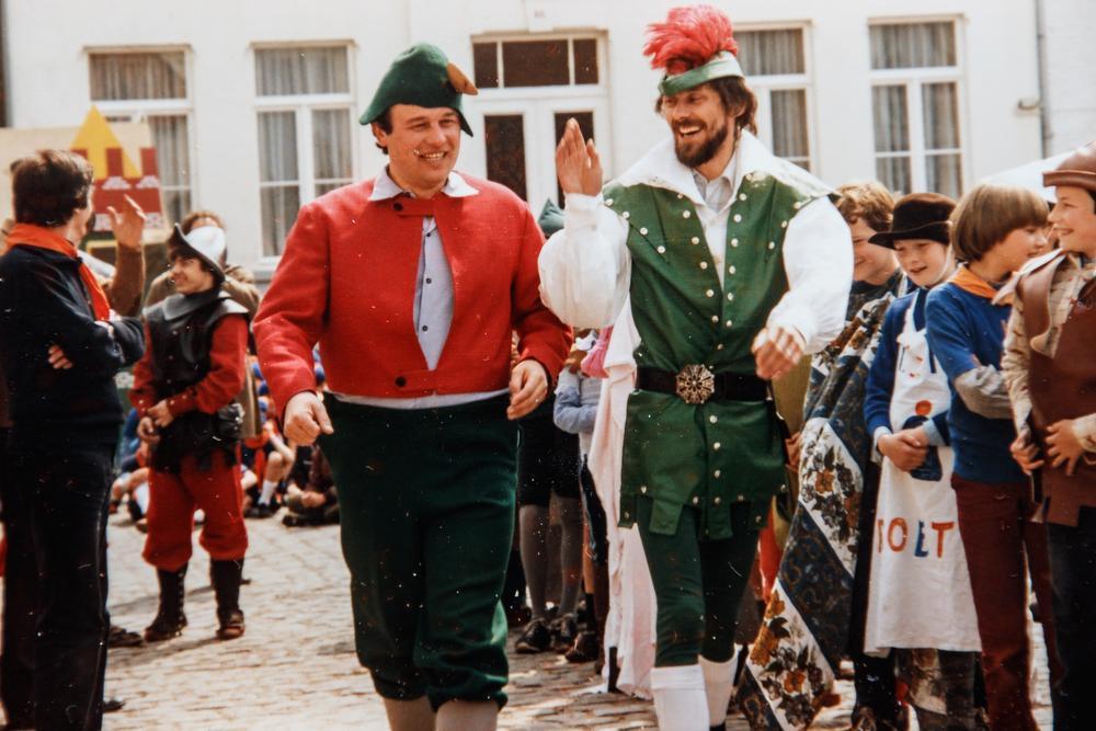 Herman (rechts) naast Willy Hosten, nu OCMW-voorzitter in Ichtegem.