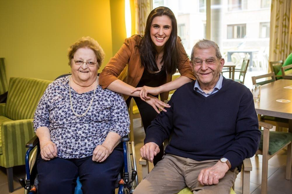Met Delphine Steelandt op bezoek bij opa André: