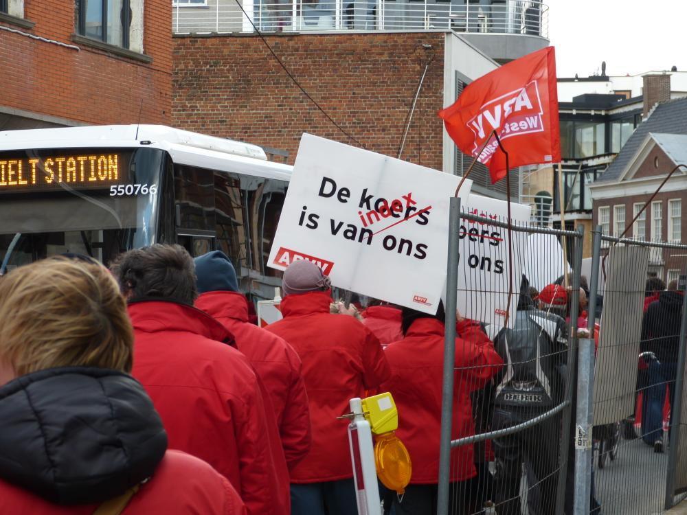 Betoging ABVV West-Vlaanderen in Kortrijk tegen de indexsprong