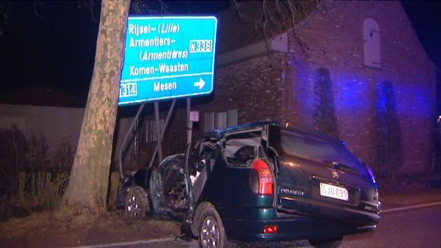 Autobestuurder zwaar gewond bij ongeval in Wijtschate