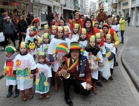 Carnavalsgekte overspoelt Oostende een weekend lang