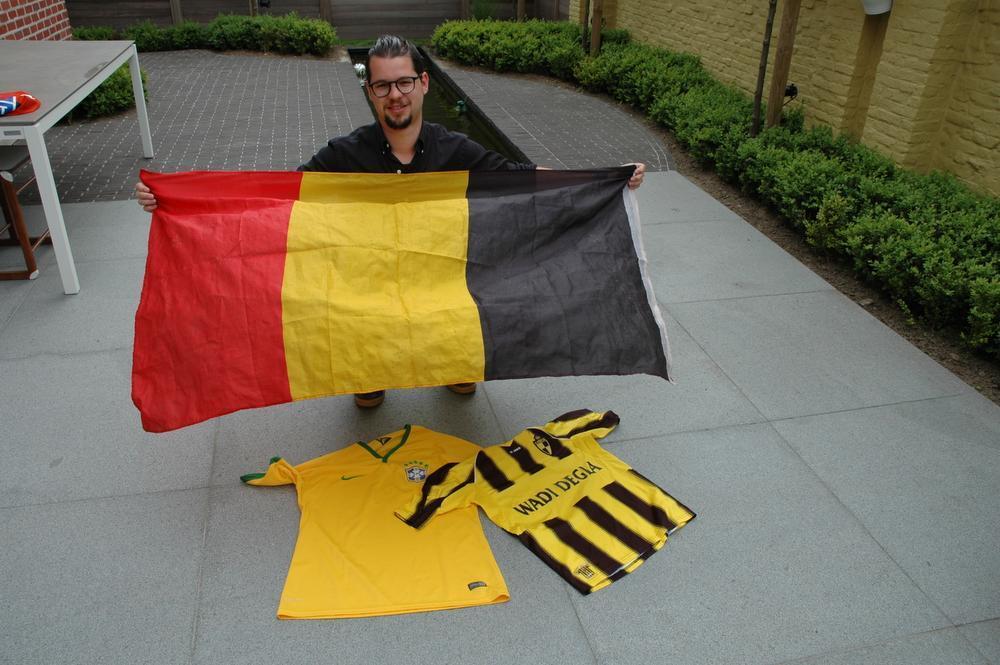 Pieter Vaneeckhout supporterde voor onze Rode Duivels op het WK in Brazilië en zal ook op het EK in Frankrijk niet ontbreken.