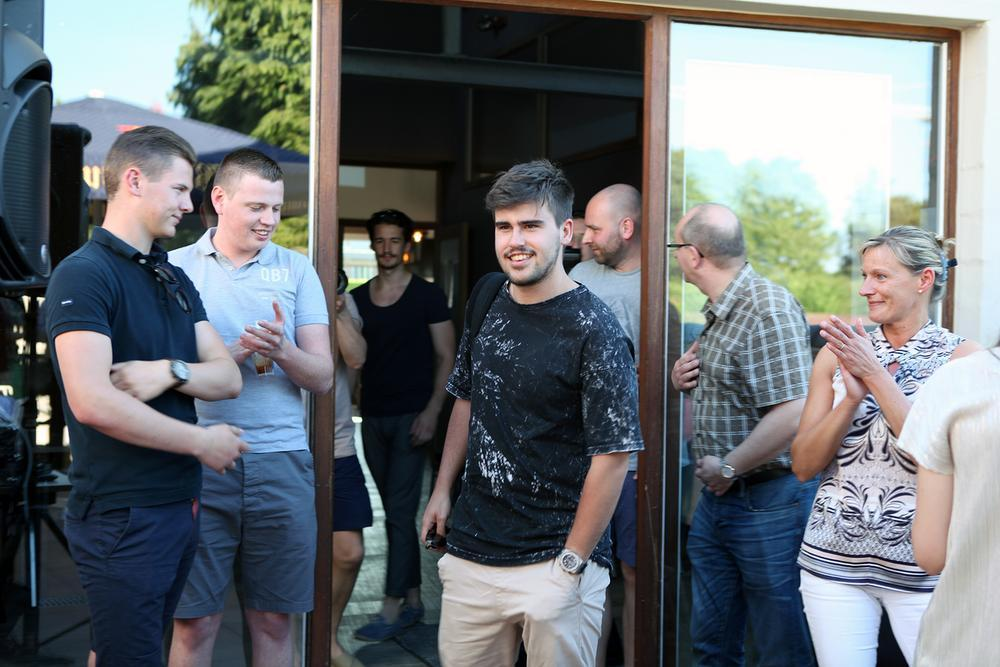 Robert arriveerde voor de gezellige meet & greet.