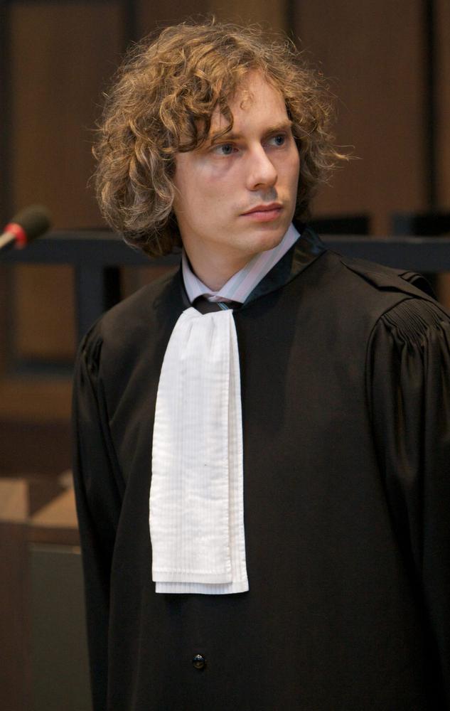 Meester Tom Vlaeminck uit Menen, burgerlijke partij als voogd ad hoc van de twee kinderen van slachtoffer Franky De Jonghe.