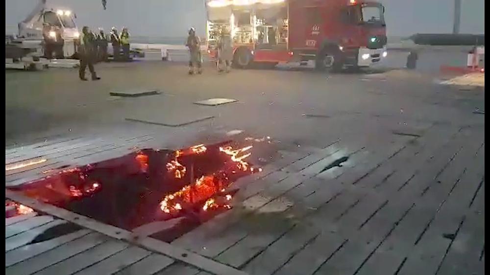 Brand bij renovatiewerken op Westerstaketsel in Oostende