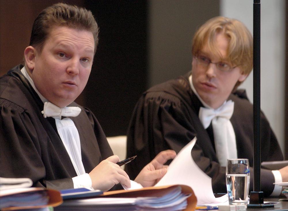 Meester Johan Platteau (l.) en Vincent Vereecke.