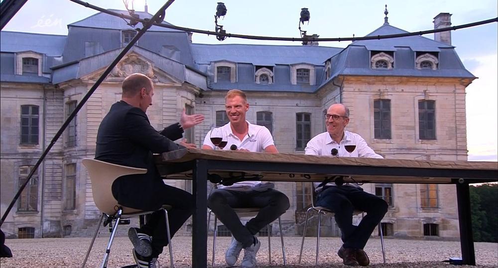 Tim Declercq vertoefde vorig jaar samen met zijn vader Karel in Frankrijk voor Vive le Vélo. Mag hij dit keer zelf starten in de Tour? (GF)