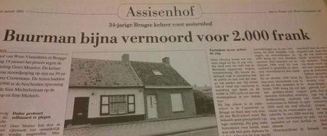 INSPECTEUR JPT (42): Messteken kosten overjaarse punker uit Brugge 30 jaar cel