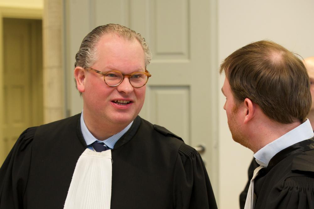 Meester Steven Vancraeyveldt uit Wevelgem, advocaat van de beschuldige.
