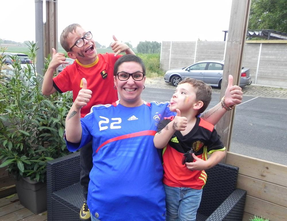 Jennifer Joye met haar zoontjes Axel (7) en Eden (3)