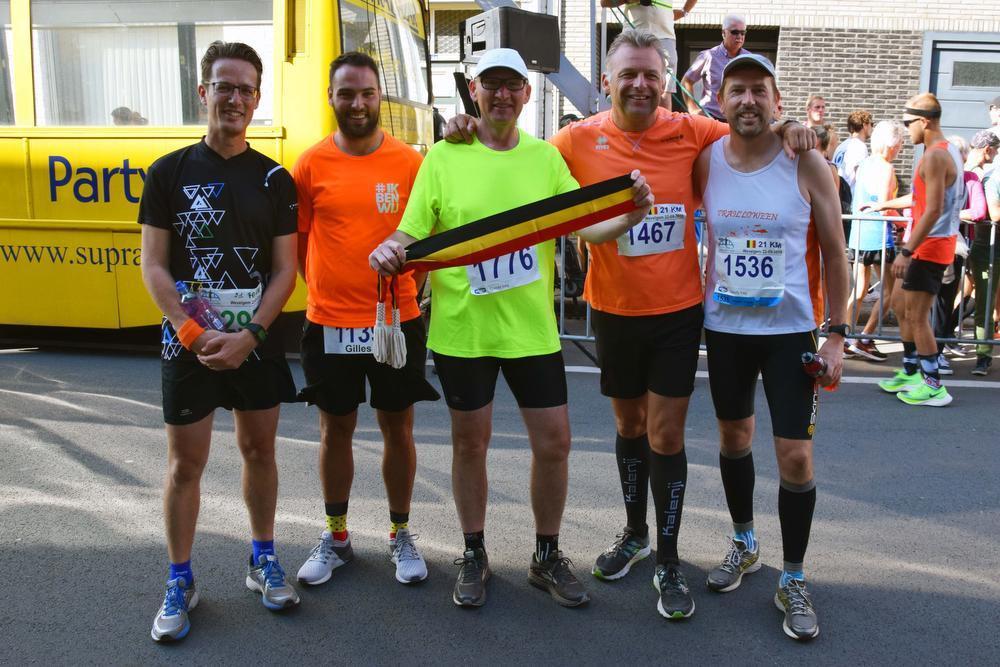 Heel wat deelnemers tijdens Belgisch kampioenschap halve marathon in Wevelgem