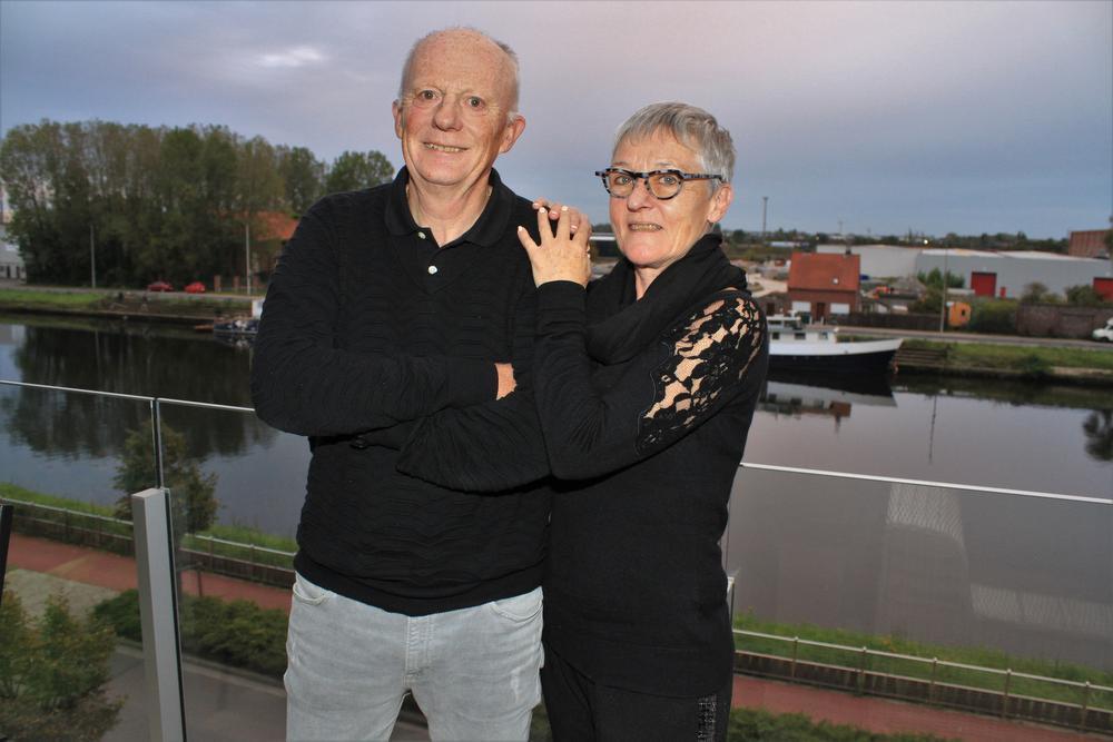 Eric en zijn grote liefde Diane die al zijn loopavonturen vanop de eerste rij mee beleefde.