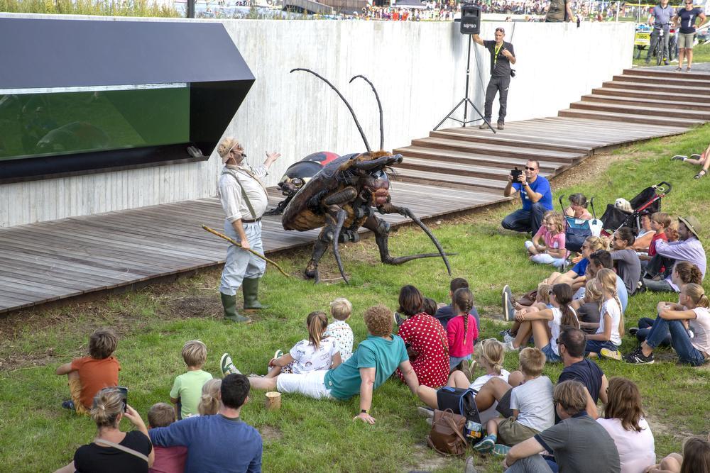Afsluitend was er nog een show met reuze insecten.