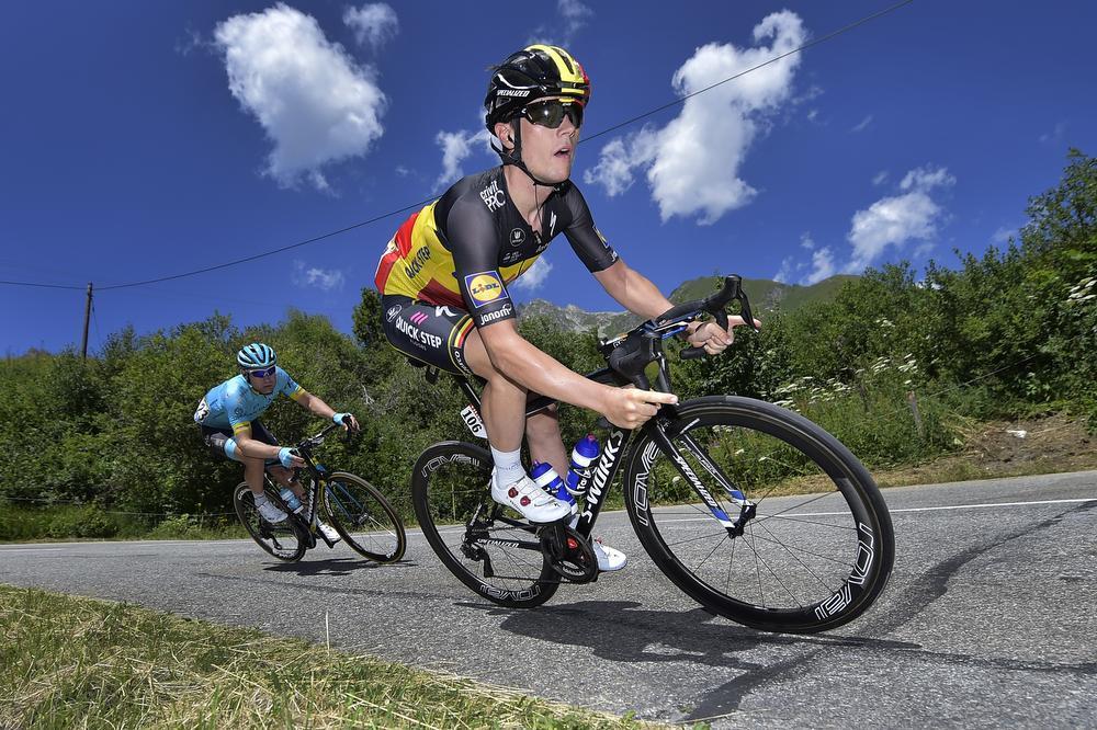 Yves Lampaert in actie tijdens de Tour.