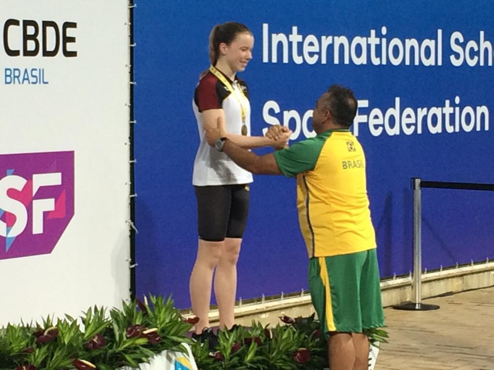 Lisa Borgonie (Barnum Roeselare) behaalde brons op de 100m schoolslag in 1'14