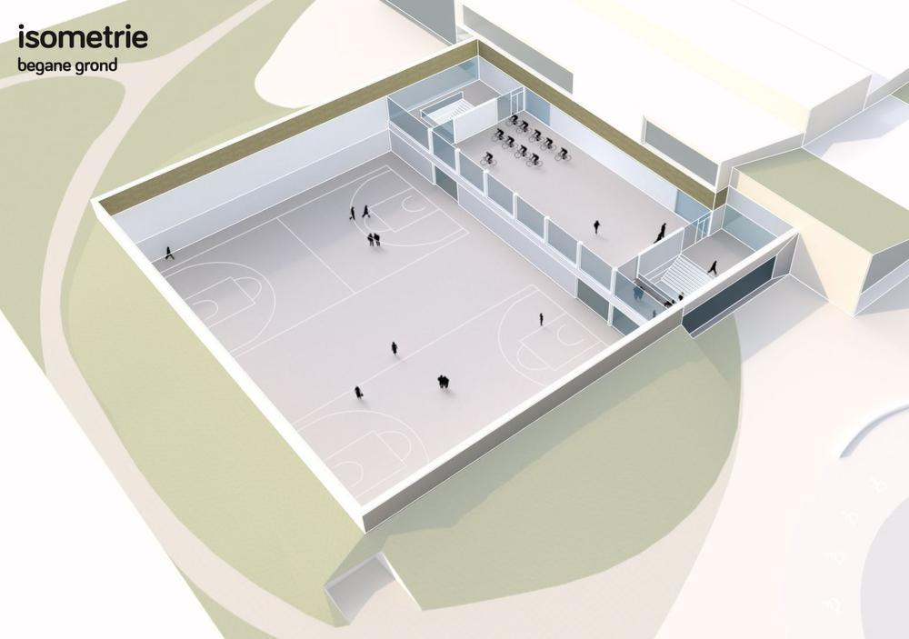 Middelkerke krijgt een nieuwe sporthal naast het nieuwe zwembad