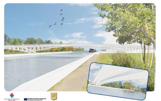 Een impressie van de toekomstige Dorpsbrug van Ingelmunster.