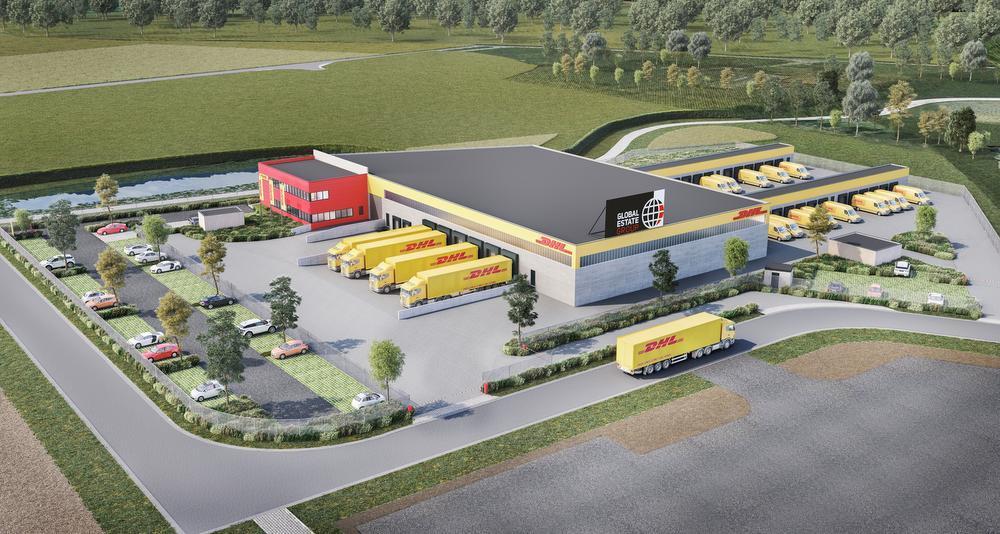 Zo zal het nieuwe distributiecentrum van DHL eruit zien.