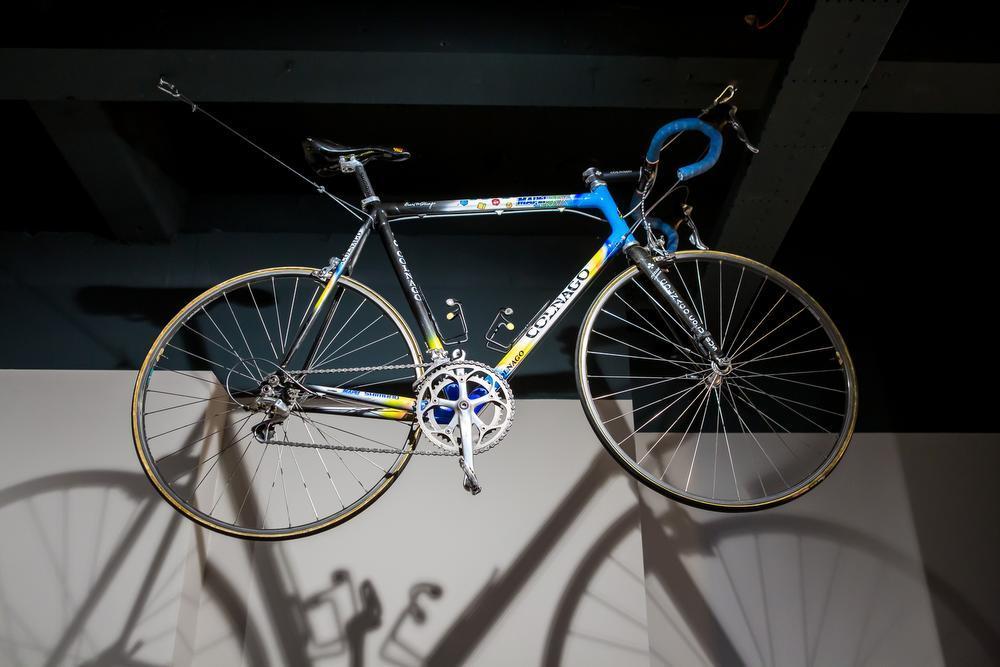 De fiets waar Museeuw wereldkampioen mee werd.