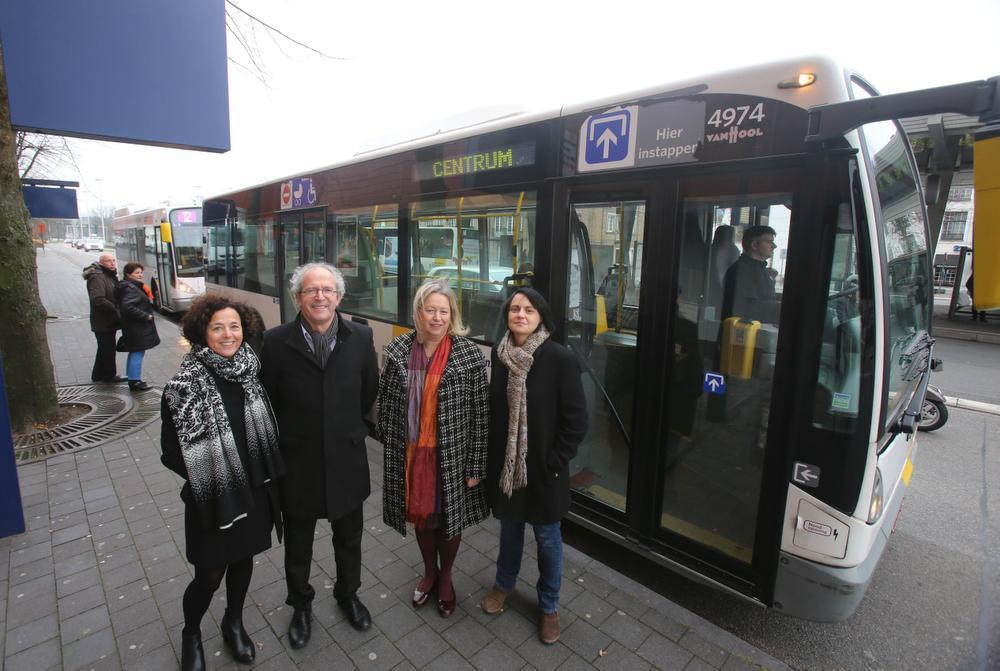 Minder bussen door Brugse binnenstad