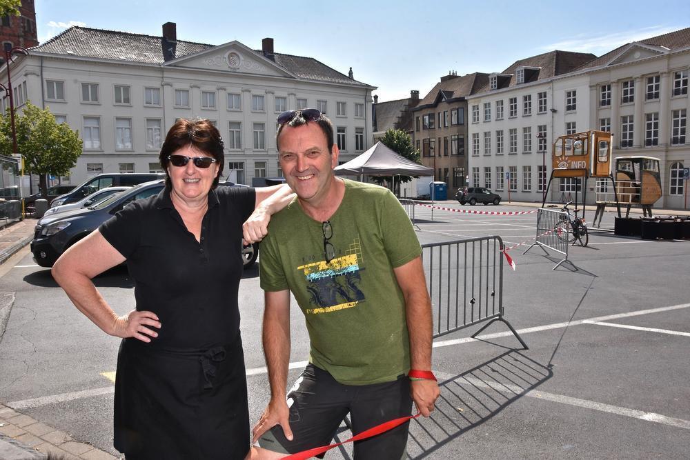 Hoofdorganisatoren Anne Verhelst en Philippe Bille.
