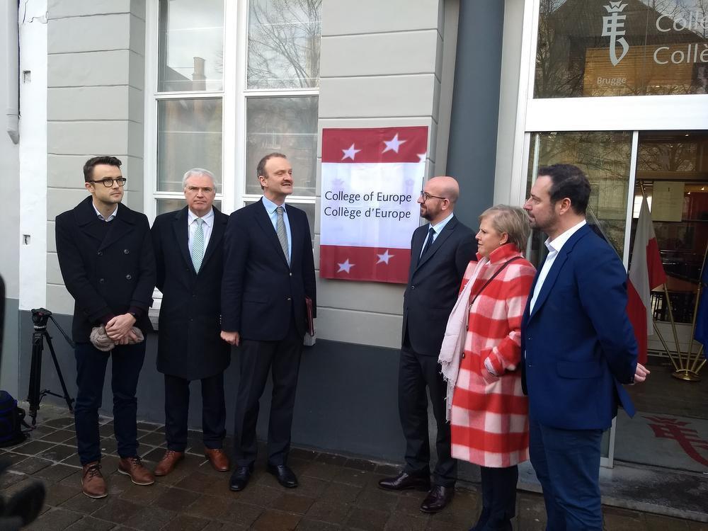 Premier Michel voor het eerst te gast in Europacollege Brugge