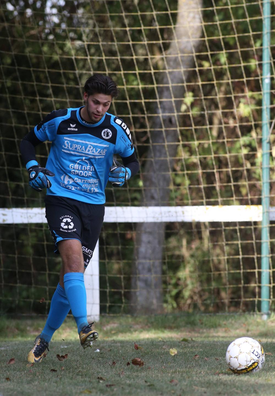 Olivier Djerdi is al het hele seizoen tweede doelman, maar de club is tevreden over hem.