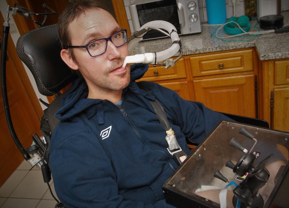 Matthias Velghe lijdt aan de ziekte van Duchenne.