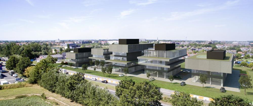 Eerste CO2-neutraal gebouwde bedrijfssite van België ligt in Waregem